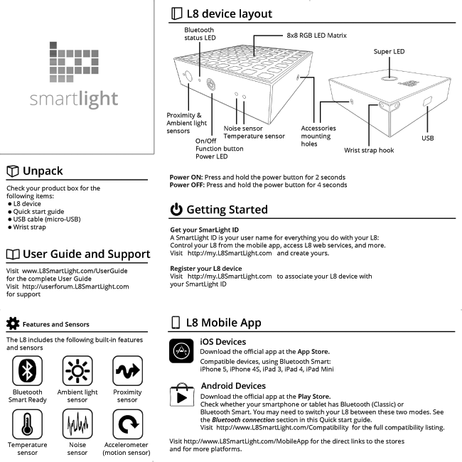 Quick User Guide (front)